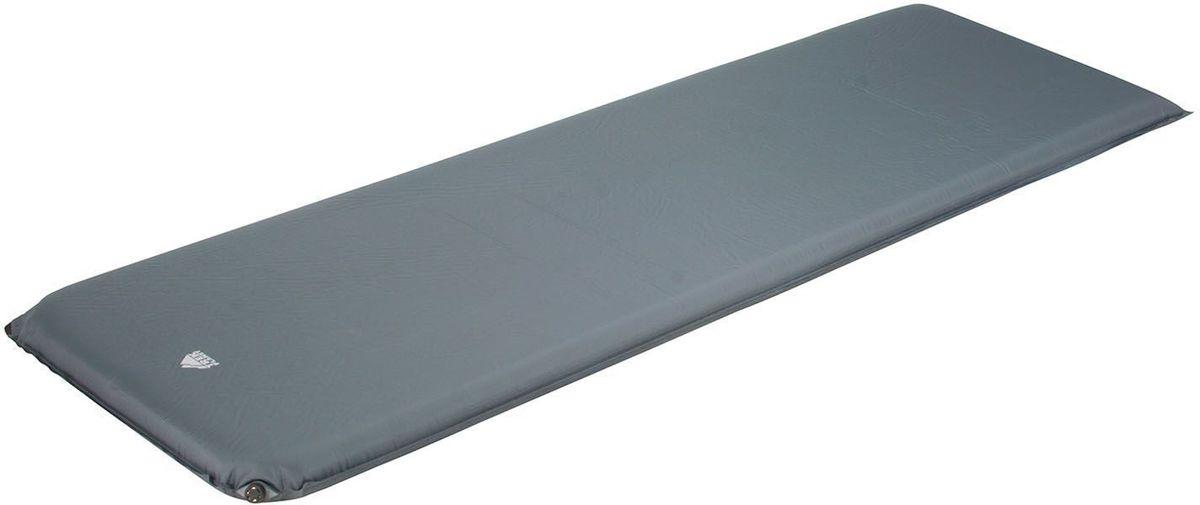 Коврик кемпинговый TREK PLANET Relax 70, самонадувающийся, цвет: серый, 198 х 63,5 х 7 см