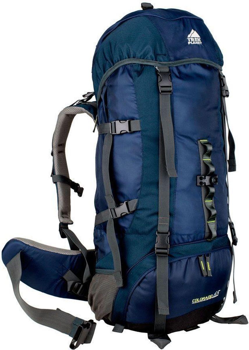 Рюкзак туристический TREK PLANET Colorado 65, цвет: синий, темно-синий, 65 л