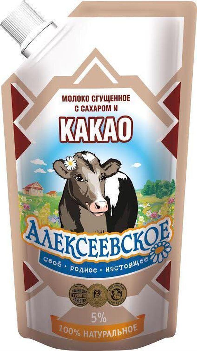 Союзконсервмолоко Алексеевское молоко сгущенное с какао, 270 г все цены