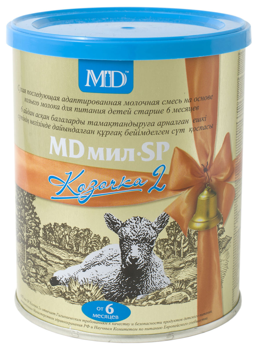 MD Мил SP Козочка 2 молочная смесь, с 6 до 12 месяцев, 400 г md мил sp козочка 2 молочная смесь с 6 до 12 месяцев 400 г