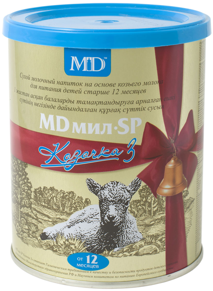 MD Мил SP Козочка 3 молочная смесь, с 12 месяцев, 400 г md мил sp козочка 2 молочная смесь с 6 до 12 месяцев 400 г