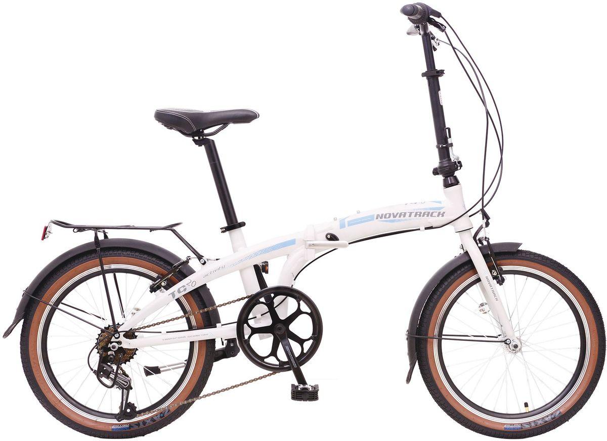 Велосипед складной Novatrack TG-20, цвет: белый, черный, голубой, 20