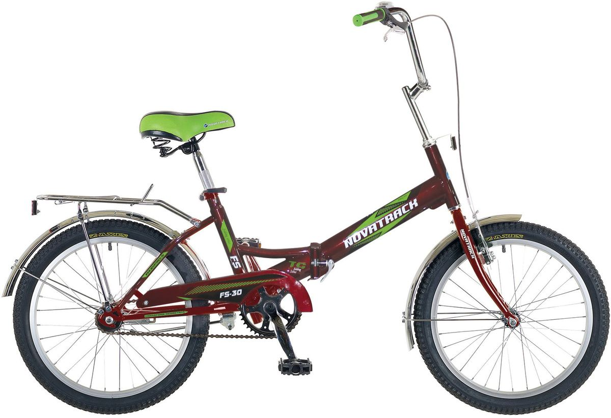 Велосипед детский Novatrack FS-30, цвет: бордовый, 20 велосипед детский novatrack fs 30 цвет светло сиреневый белый черный 20