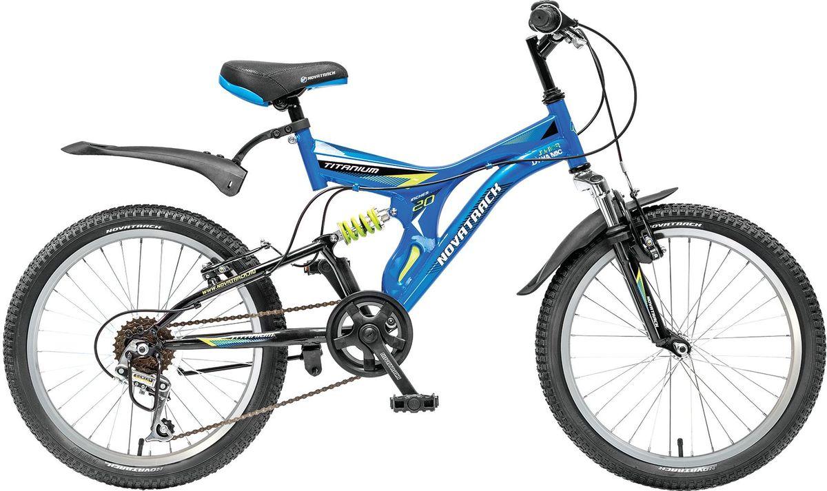 Велосипед детский Novatrack Titanium, цвет: синий, 20