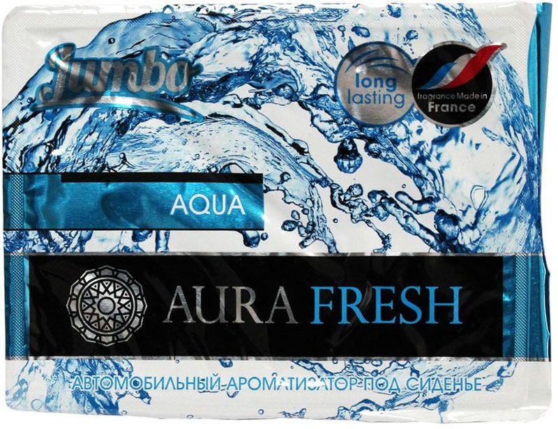 Ароматизатор автомобильный Aura Fresh Jumbo. Aqua, под сиденье автомобильный ароматизатор doctor wax новая машина dw0807 под сиденье