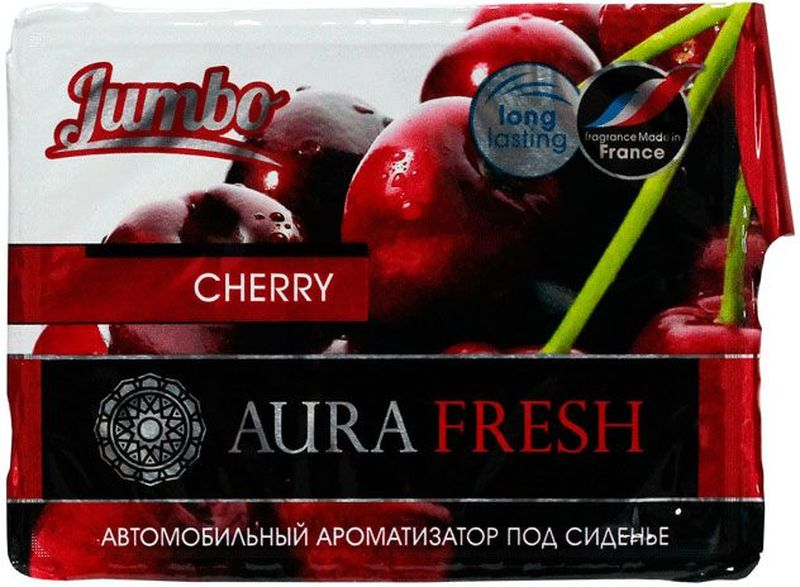 Ароматизатор автомобильный Aura Fresh Jumbo. Cherry, под сиденье