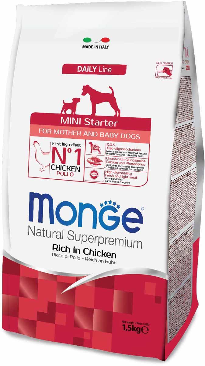"Корм сухой Monge ""Dog Mini Starter"", для щенков мелких пород, 1,5 кг"