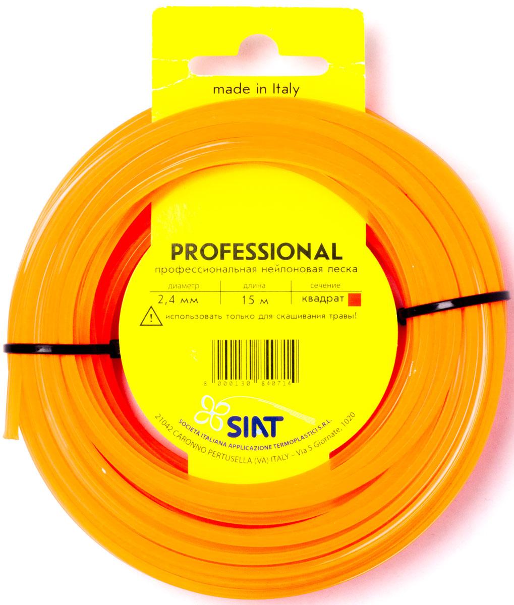 Леска для триммера Siat Professional Siat. Квадрат, диаметр 2,4 мм, длина 15 м леска для триммера siat professional siat звезда диаметр 3 мм длина 10 м