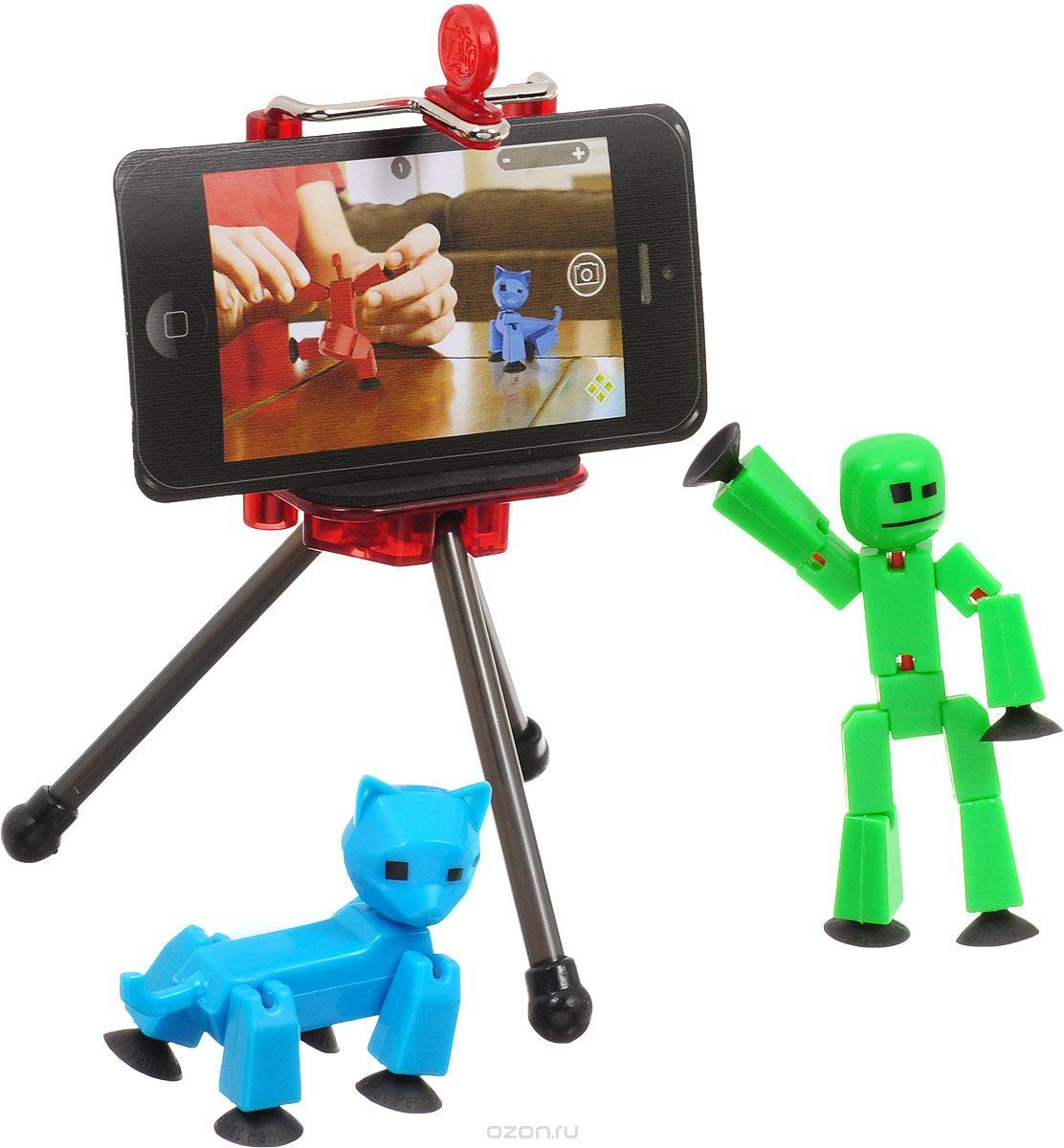 """Набор фигурок Stikbot """"Студия"""", цвет: голубой, зеленый, 2 шт"""