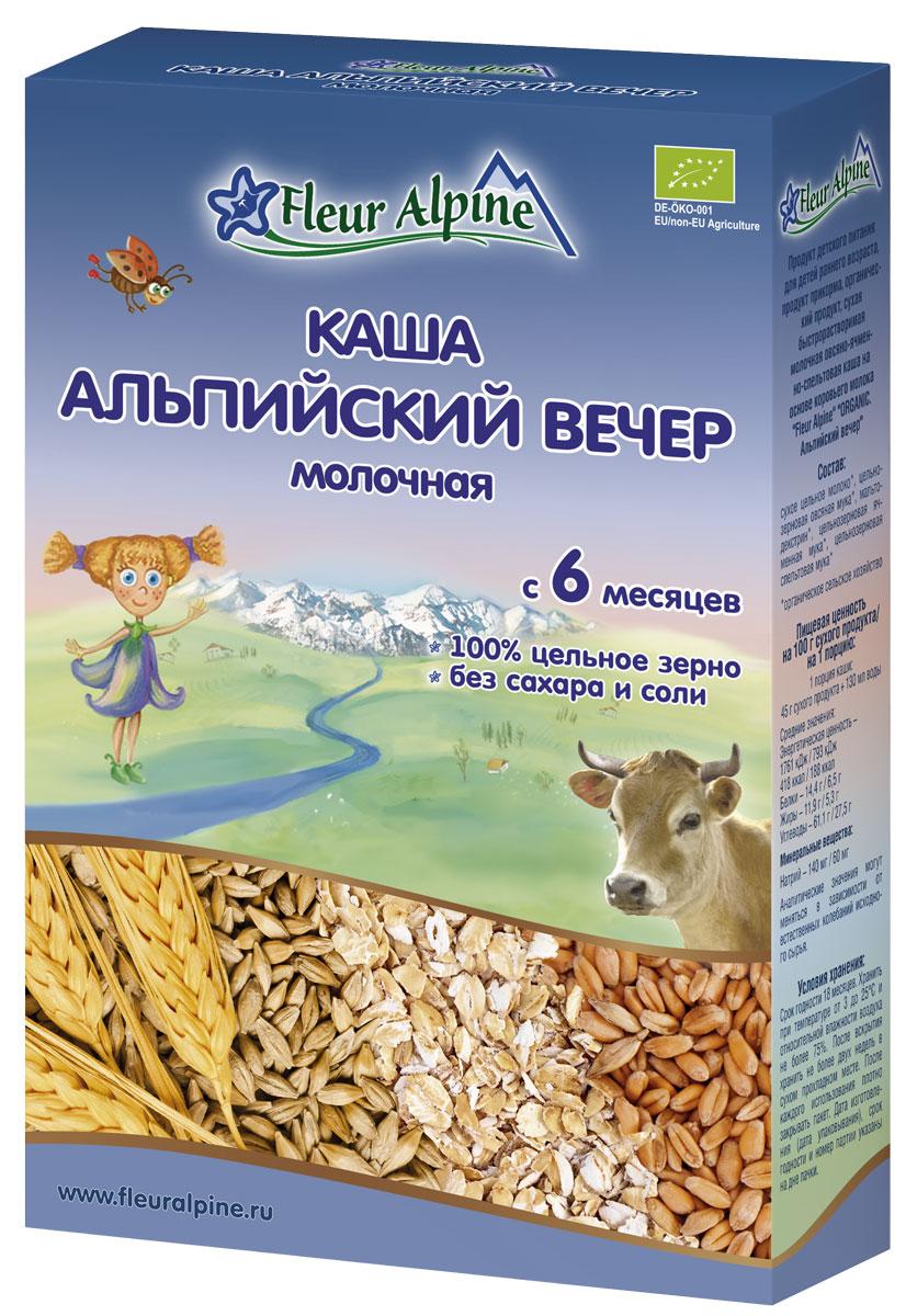 Fleur Alpine Organic Альпийский вечер каша молочная, с 6 месяцев, 200 г