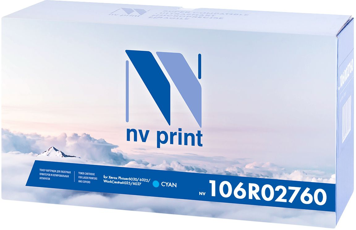 NV Print 106R02760C, Cyan картридж для Xerox Phaser 6020/6022/WorkCentre 6025/6027 цена