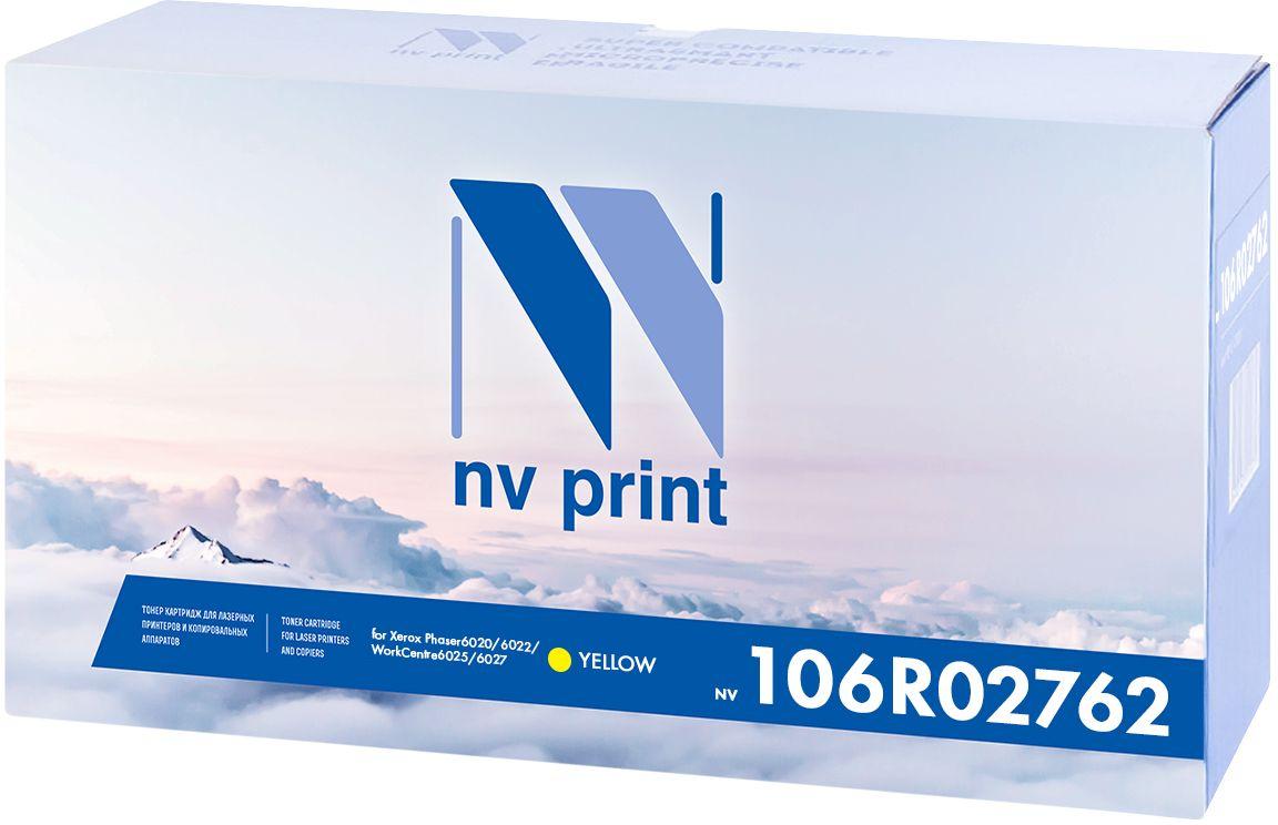 Картридж NV Print 106R02762Y, желтый, для лазерного принтера