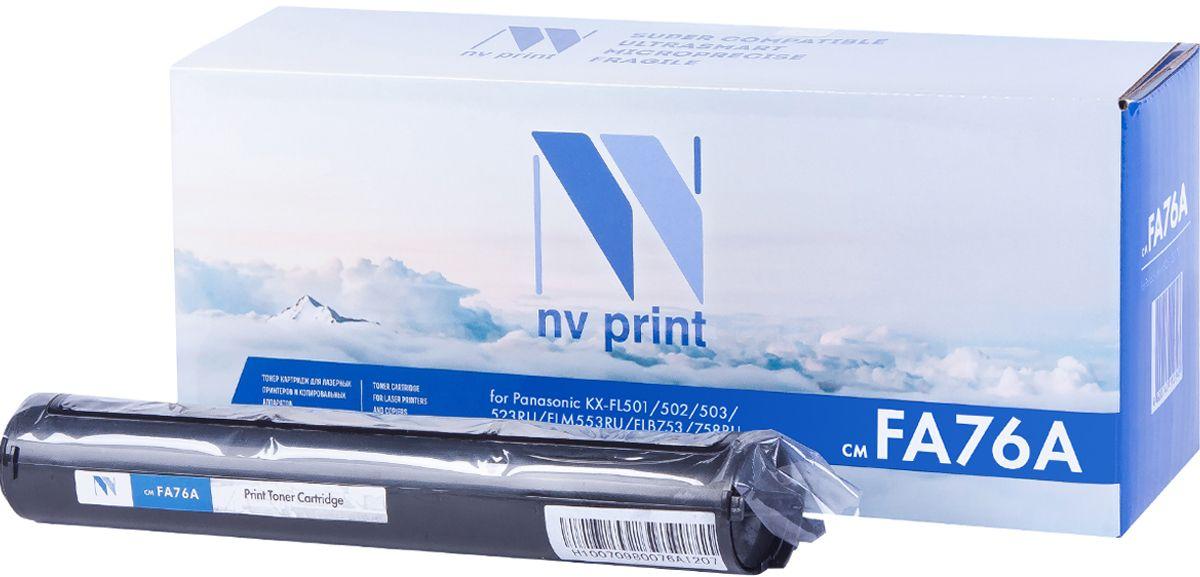Картридж NV Print KX-FA76A, черный, для лазерного принтера