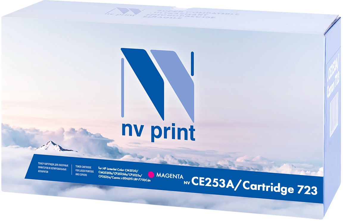 Картридж NV Print CE253A/723M, пурпурный, для лазерного принтера картридж nv print cc533a canon 718 magenta для нewlett packard lj color cp2025 2800k