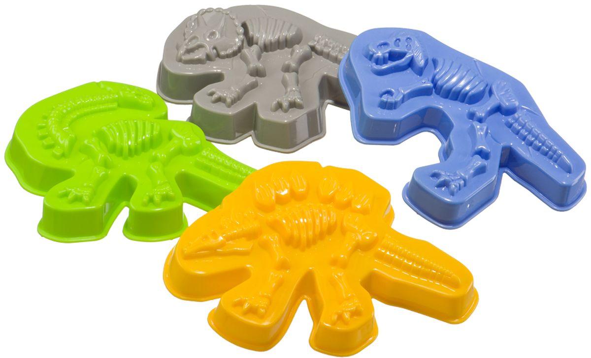 Happy Baby Набор формочек для песка Dinosaurs игровые фигурки happy kin набор динозавров 41093