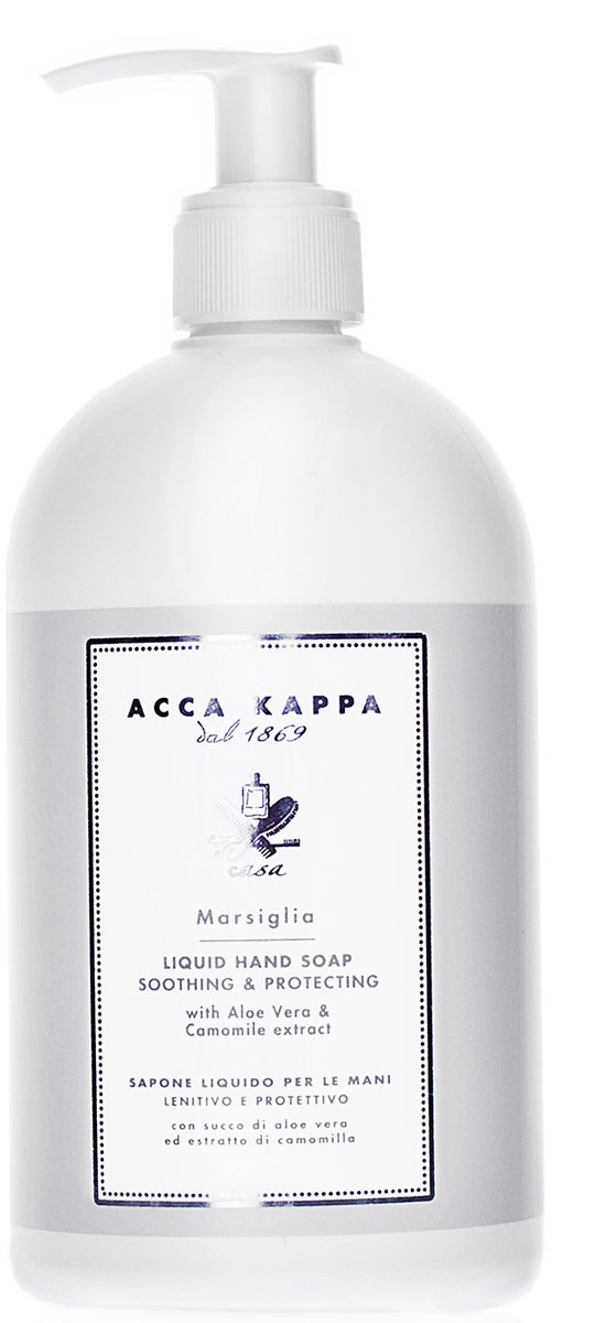 Acca Kappa Жидкое мыло для рук Marsiglia (Марсельское) с экстрактами Алое Вера и Ромашки 500 мл молочко для тела acca kappa acca kappa ac001ludwbq9