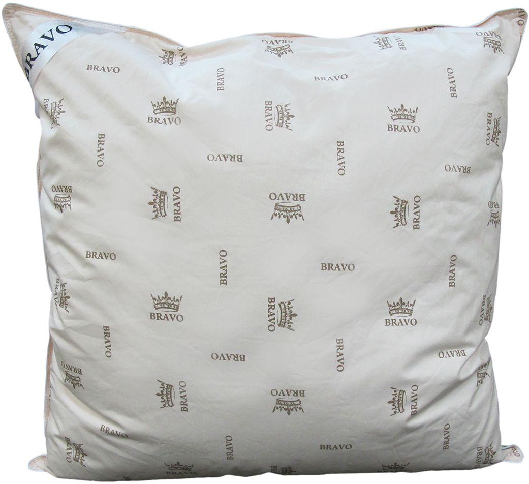 Подушка Bravo Элит, наполнитель: пух гусиный, 70 х 70 см подушка estia аоста наполнитель пух 70 х 70 см