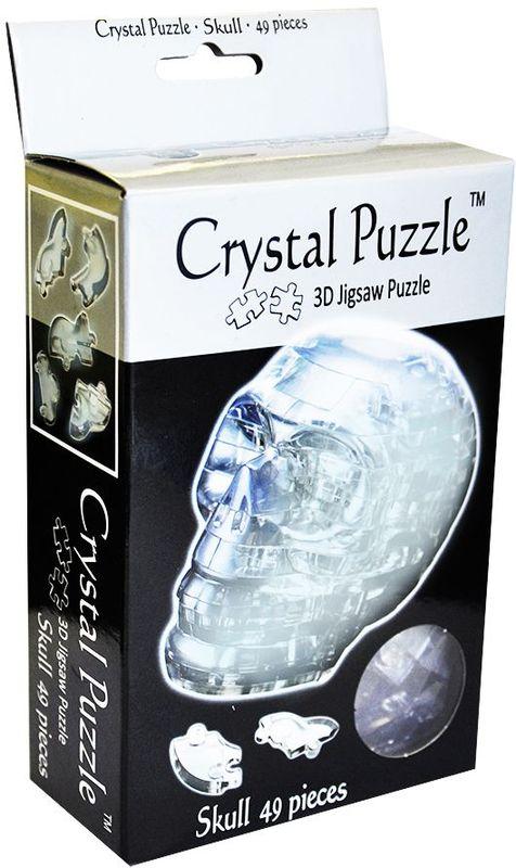 Crystal Puzzle 3D головоломка Череп цвет серебристый кристальный пазл 3d crystal puzzle замок
