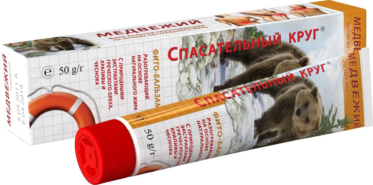 Спасательный круг Фито-бальзам Медвежий с маслом крапивы, чеснока, геческого ореха, 45 г спасательный круг бальзам для пяток с календулой пантенолом витамином а 50 г