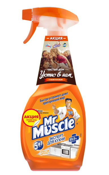 Средство для кухни Mr. Muscle Эксперт для кухни, энергия цитруса, 500 мл mr muscle page 9