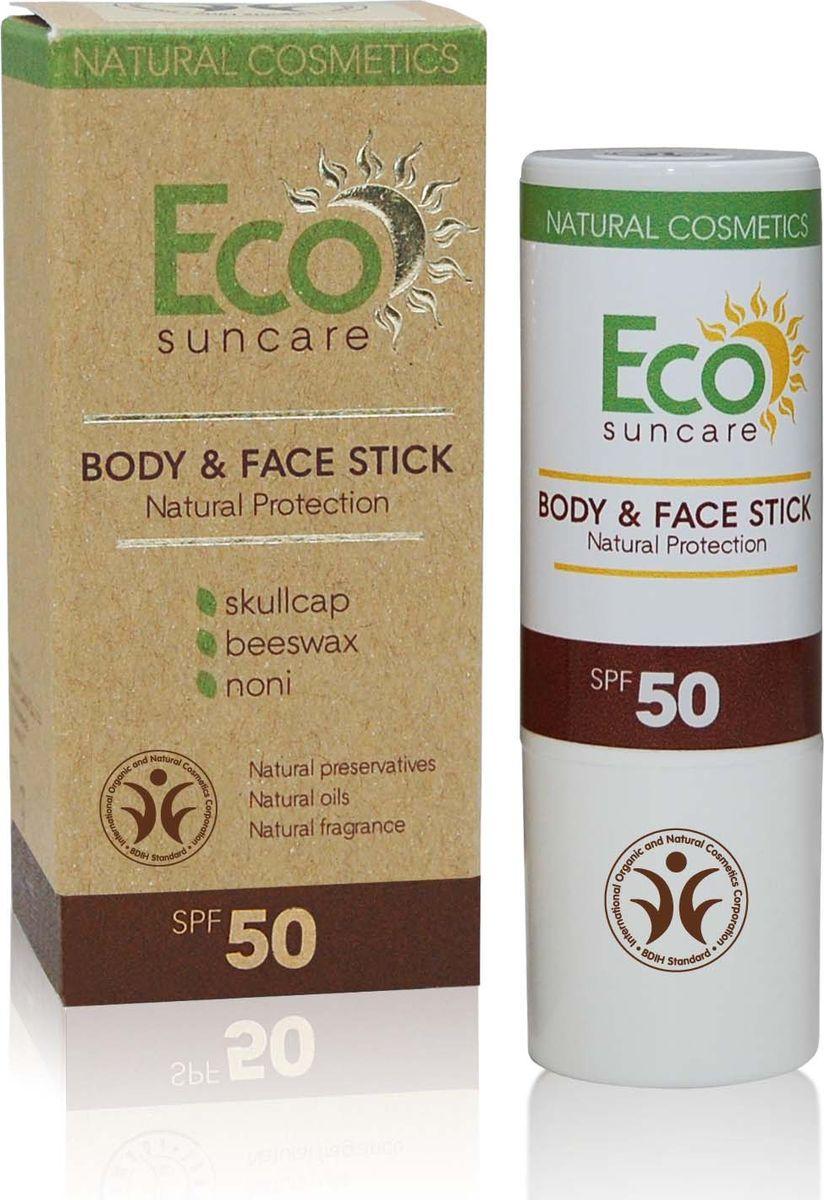 Eco Suncare Натуральный солнцезащитный карандаш для чувствительных участков кожи лица и тела -Natural Sun Protection Body & Face Stick SPF 50 -17г