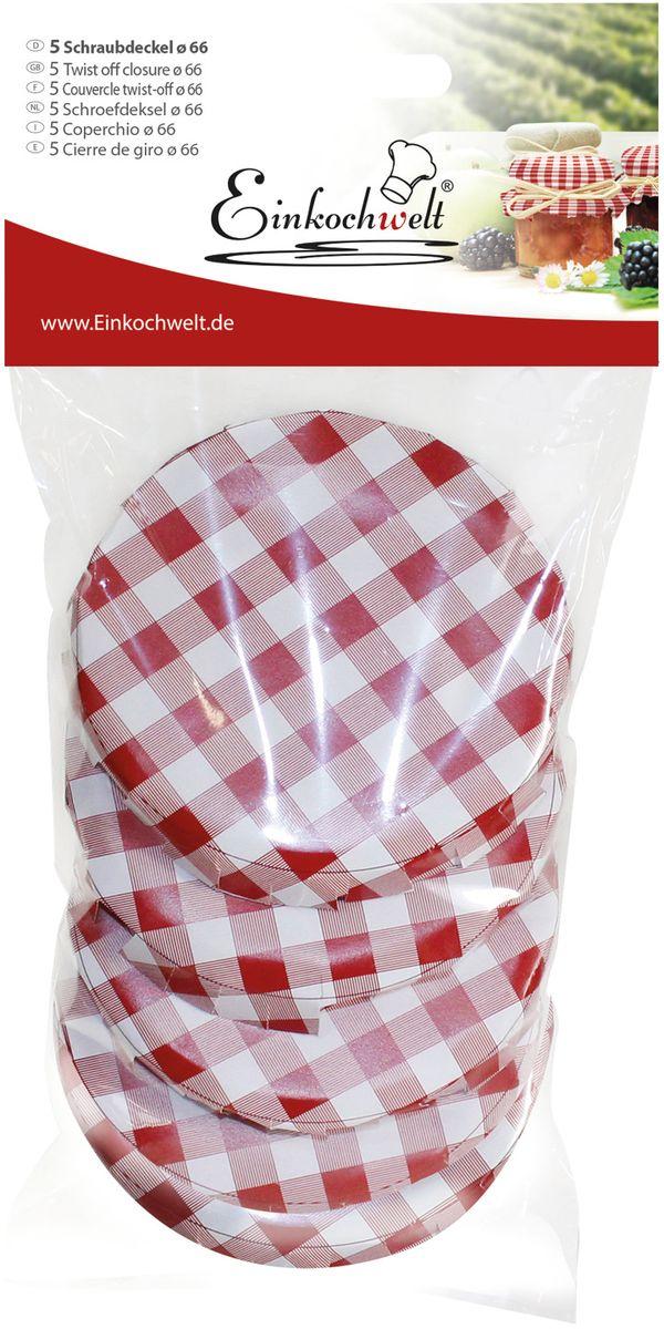 Крышка для банки Einkochwelt, 6,6 см. 5 шт набор крышек einkochwelt weck диаметр 6 см 347897