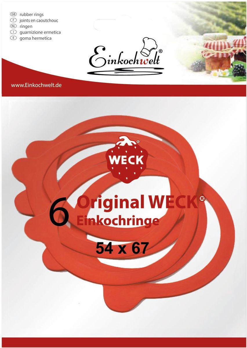 """Резиновая прокладка """"Einkochwelt"""", 5,4 х 6,7 см. 6 шт"""