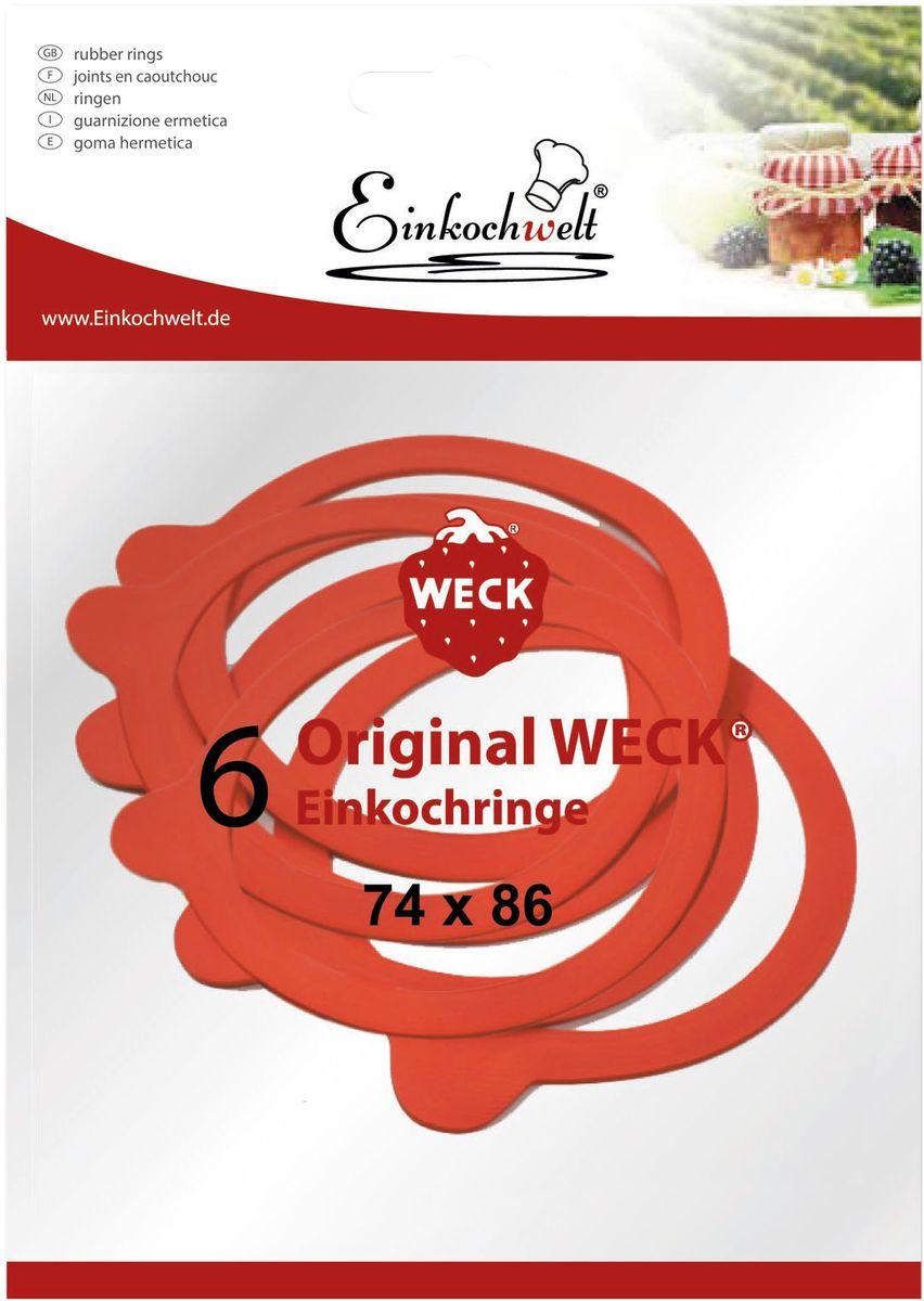 """Резиновая прокладка """"Einkochwelt"""", 7,4 х 8,6 см. 6 шт"""