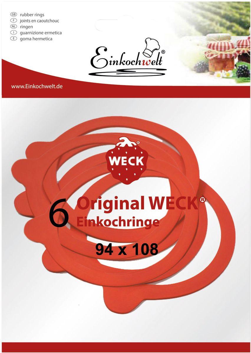 Резиновая прокладка Einkochwelt, 9,4 х 10,8 см. 6 шт набор крышек einkochwelt weck диаметр 6 см 347897