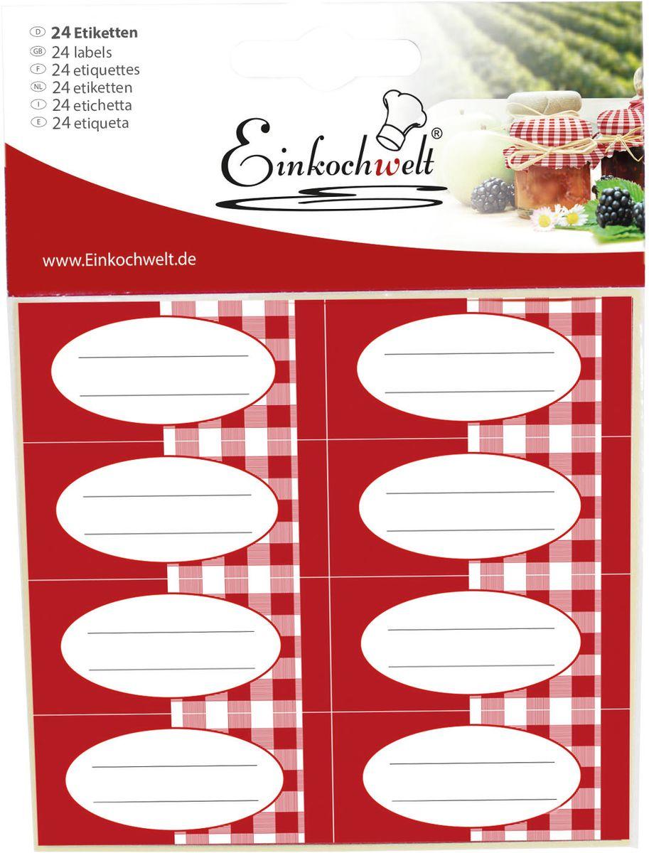 "Набор этикеток ""Einkochwelt"", 5,4 х 2,5 см. 24 шт"