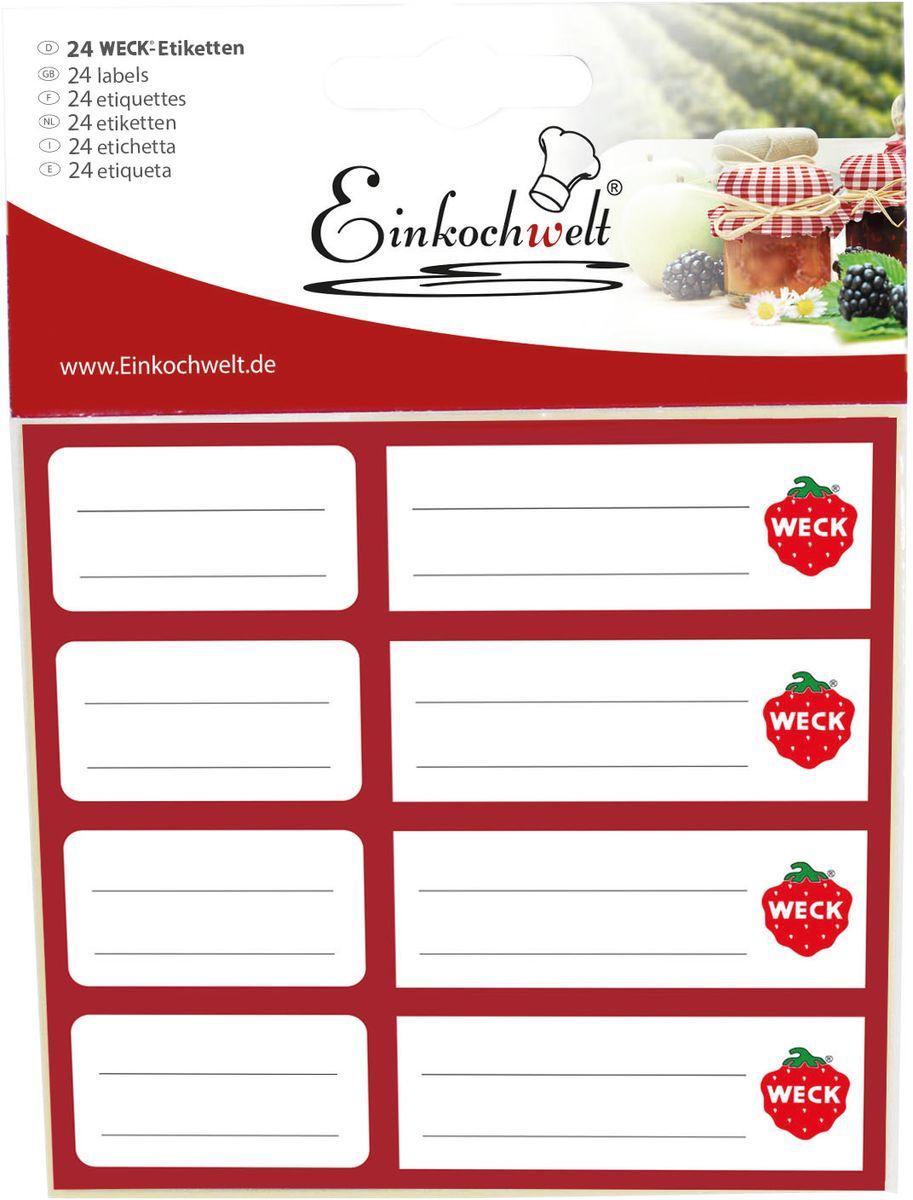 Набор этикеток Einkochwelt, 5 х 6 см. 24 шт346920Оригинальные этикетки на банки и бутылки Einkochwelt станут прекрасным украшением ваших домашних заготовок и других продуктов. Вы никогда не забудете состав и дату изготовления продукта. Размеры: 5 х 6 см.