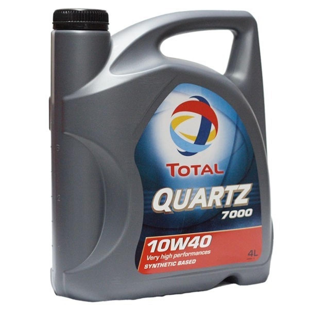Моторное масло Total Quartz 7000 10W-40, 4 л148593Моторное масло Total Quartz 7000 10w-40 разработано для соответствия требованиям спецификаций бензиновых и дизельных двигателей (легковые и небольшие грузовые автомобили). Рекомендовано для применения в двигателях с турбонаддувом, включая многоклапанные. Масло обеспечивает высокие эксплуатационные свойства в условиях высоких нагрузок при вождении по автостраде и в городе, в любое время года. Total Quartz 7000 10w-40 прекрасно подходит для автомобилей, оснащенных катализаторами и использующих этилированный бензин или сжиженный газ. Использование Total Quartz 7000 10w-40 обеспечивает значительную экономию топлива, подтверждено тестом API SH EC I. Благодаря основе, состоящей из синтетических и высокоочищенных минеральных компонентов, Total Quartz 7000 10w- 40 обладает высоким индексом вязкости и превосходной вязкостной стабильностью в эксплуатации. Масло изготовлено по технологии, обеспечивающей сочетание свойств легкотекучести (легкий холодный старт) и вязкости (превосходное смазывание при высоких температурах, низкий расход масла). Сохраняет в чистоте двигатель, благодаря выкотехнологичным моющим и диспергирующим присадкам, что не допускает потери мощности. Использование противоизносных присадок обеспечивает надежную защиту наиболее чувствительных частей двигателя. Спецификации/допуски: API SJ/SH/CF, PSA PEUGEOT CITROEN GASOLINE, API Energy Conserving | VOLKSWAGEN 500.00/505.00 (11/92), ACEA A3-96/B3- 96 BMW, MB 229.1. Рекомендуем!