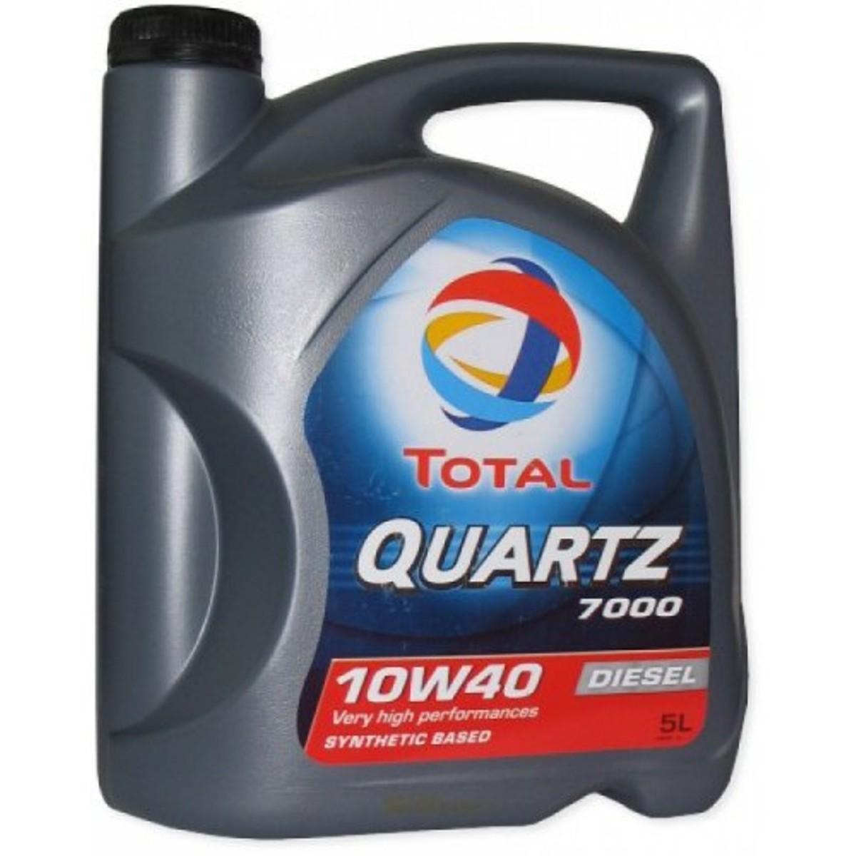 """Моторное масло Total """"Quartz Diesel 7000 10W40"""", 4 л"""