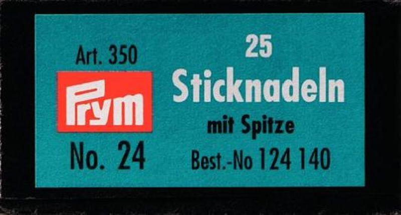 Набор ручных игл Prym №24, для вышивания, 25 шт. 124140 набор игл ручных prym для шитья 1 5 16 шт