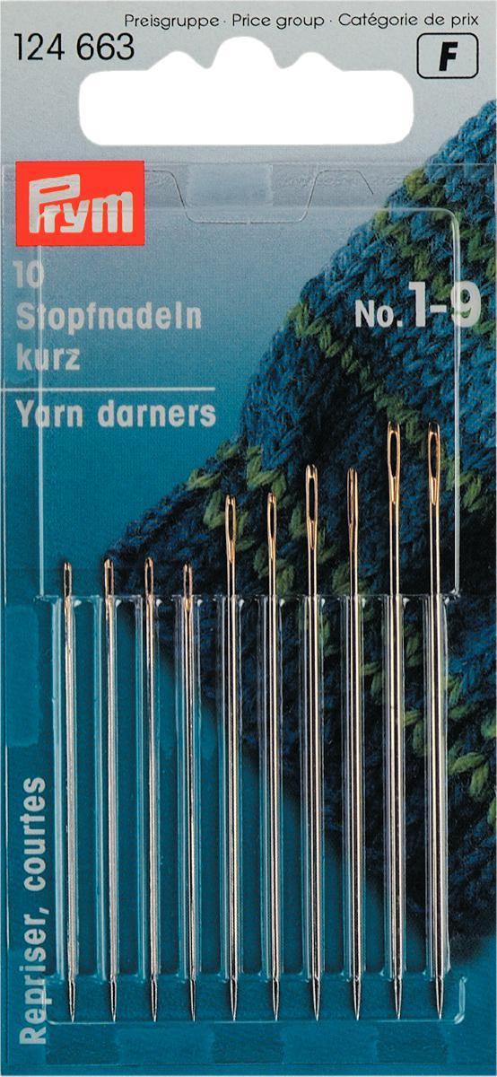 Набор ручных игл Prym, для штопки, №1-9, 10 шт набор игл для насоса нантонг зонги jy 14b