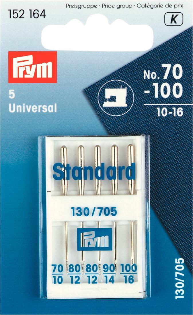 Набор игл для швейных машин Prym, №70-100, 5 шт набор игл ручных prym для шитья 1 5 16 шт