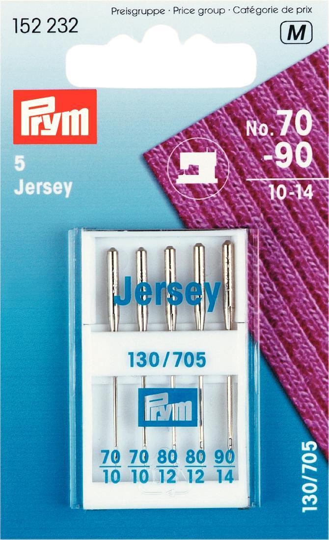 Набор игл для швейных машин Prym, для джерси, №70-90, 5 шт набор игл ручных prym для шитья 1 5 16 шт