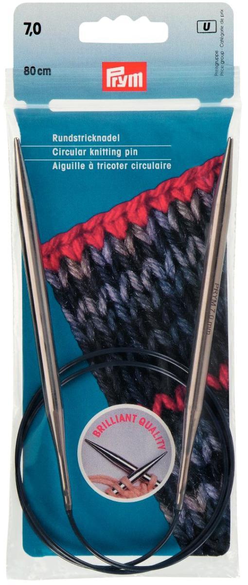 Спицы круговые Prym, цвет: фиолетовый, диаметр 7 мм, длина 80 см ванна для ног aeg fm 5567