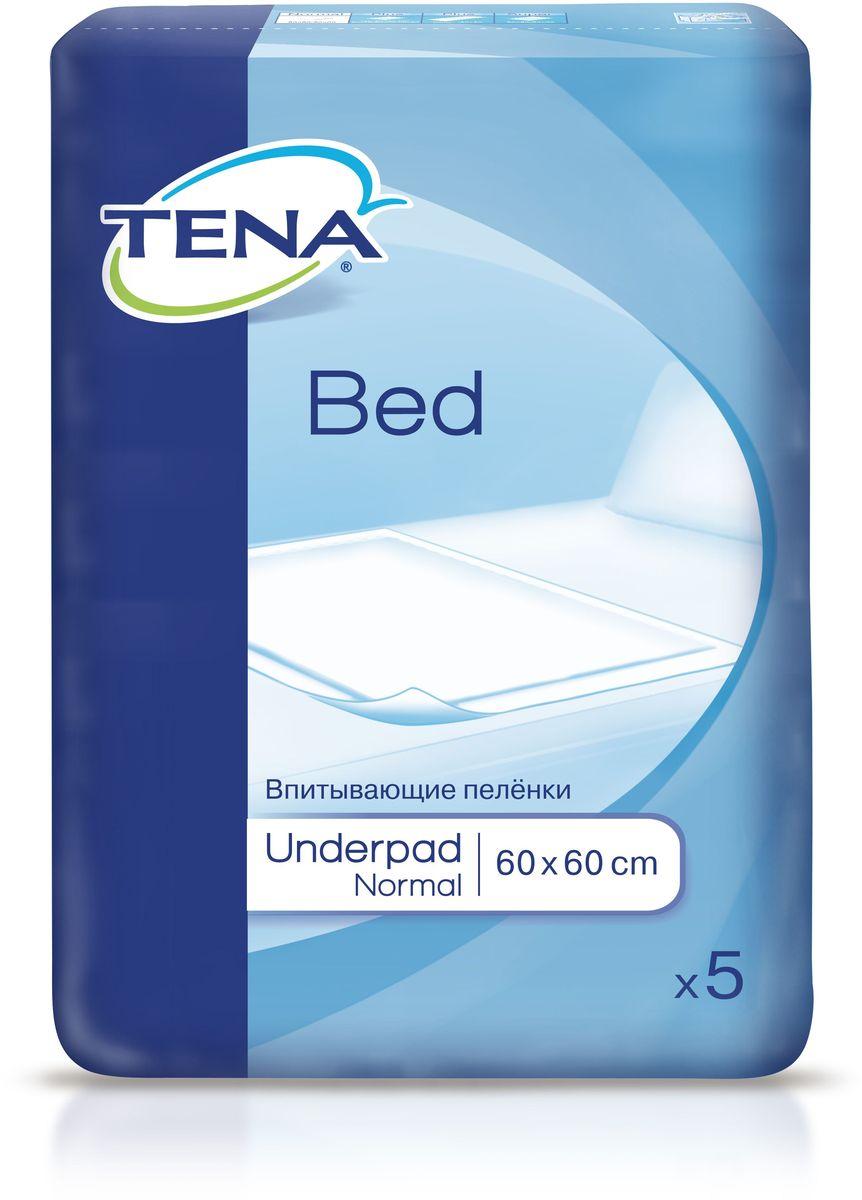 Tena Bed Впитывающие Простыни Нормал 60 х 60 см, 5 шт ловулар простыни впитывающие детские 60х90см 16шт