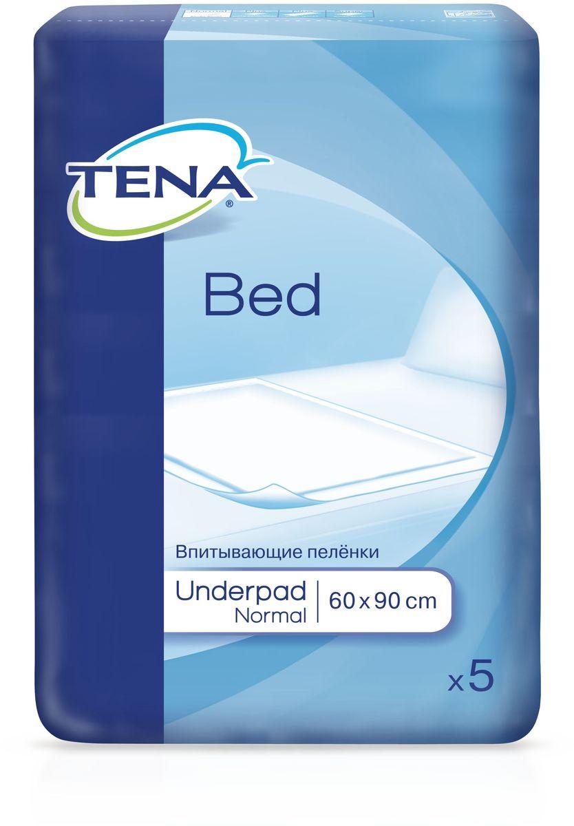 Tena Bed Впитывающие Простыни Нормал 60 х 90 см, 5 шт ловулар простыни впитывающие детские 60х90см 16шт