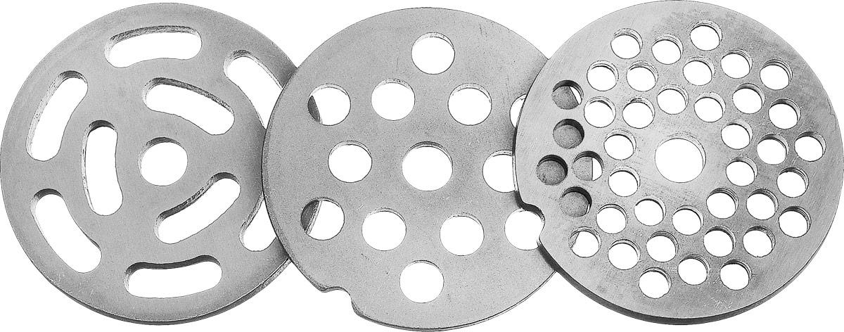 Аксион 21332630 комплект решеток для мясорубки, 3 шт Аксион