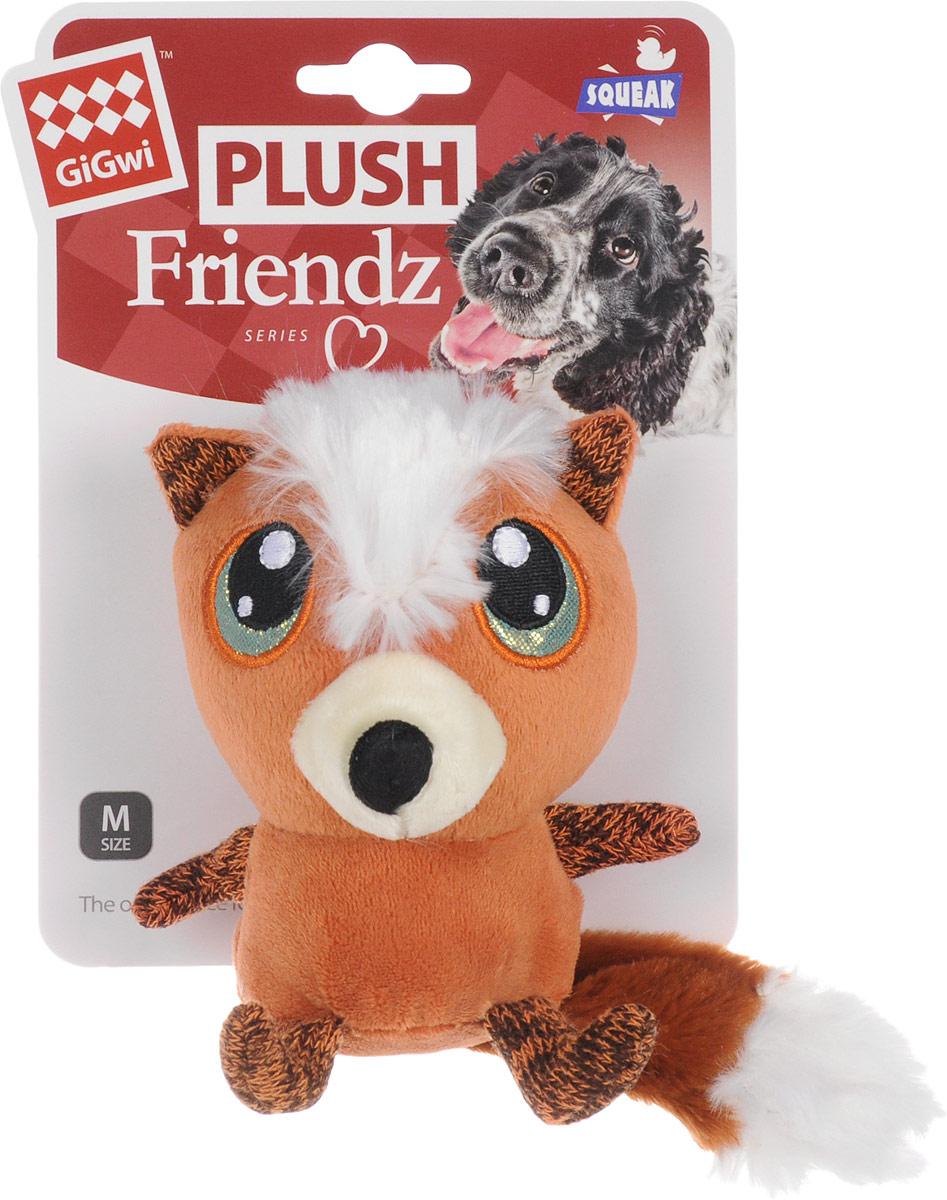 Игрушка для собак GiGwi Лиса с большими глазами, с пищалкой, длина 12 см игрушка для собак gigwi мячи с пищалкой диаметр 8 см 3 шт