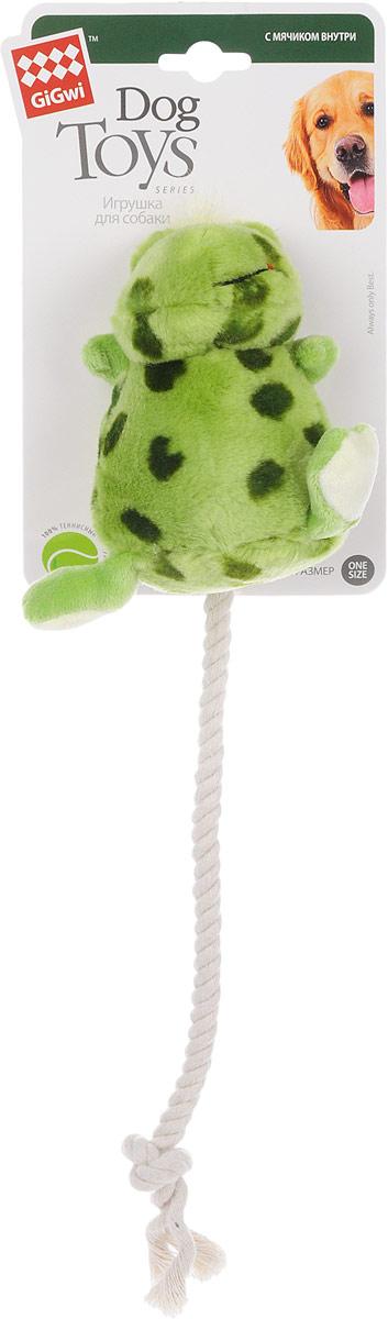 Игрушка для собак GiGwi Лягушка, с мячиком внутри, с пищалкой, длина 12 см. 75062 логическая игрушка краснокамская игрушка ли 01 лягушка