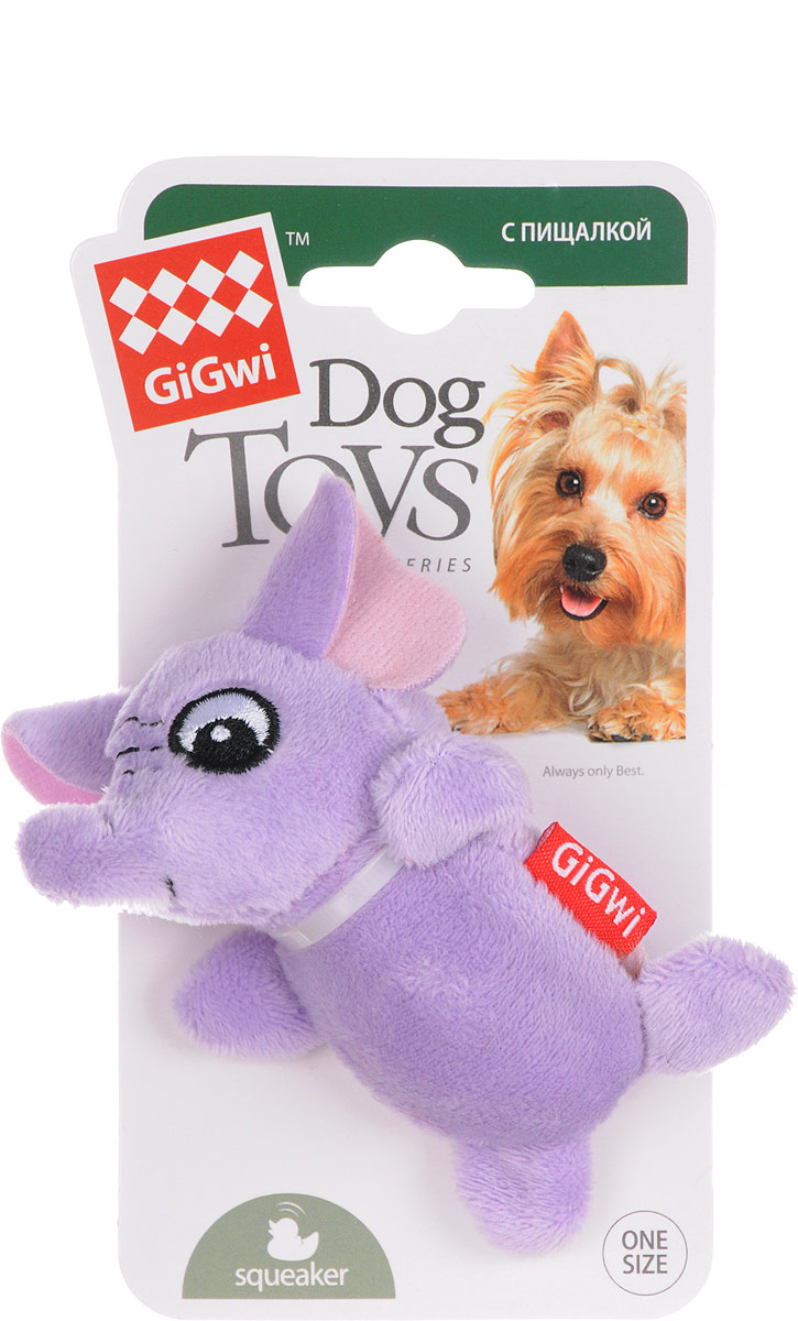 Фото - Игрушка для собак GiGwi Слон, с пищалками, длина 9 см trixie стойка с мисками trixie для собак 2х1 8 л