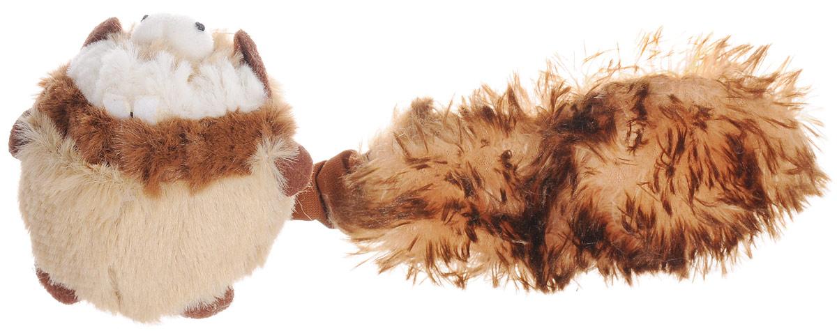 Игрушка для собак GiGwi Барсук, с пищалкой, длина 26 см мягкие игрушки disney лэмми 25 см