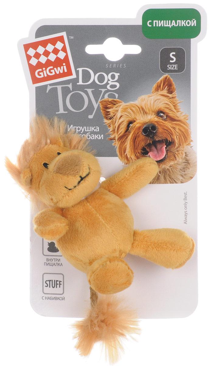 Игрушка для собак GiGwi Лев, с пищалкой, длина 10 см мягкие игрушки disney лэмми 25 см