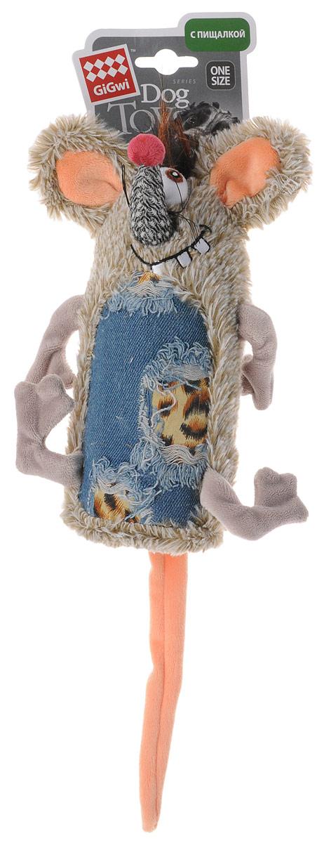 Игрушка для собак GiGwi Мышь, с пищалкой, длина 35 см мягкие игрушки disney лэмми 25 см