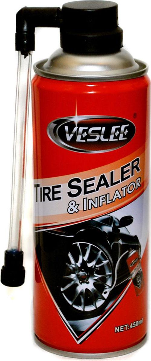 """Средство для аварийного ремонта и накачки шин """"Veslee"""", аэрозоль, 450 мл"""