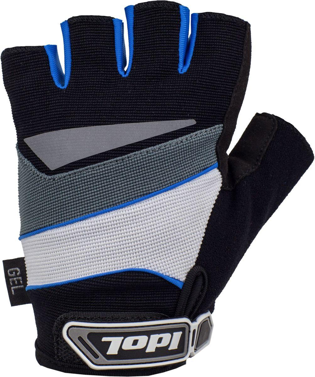 """Перчатки велосипедные Idol """"Lech"""", цвет: черный, синий. Размер M"""