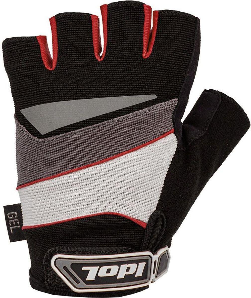 Перчатки велосипедные Idol Lech, цвет: черный, красный. Размер M